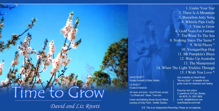 David and Liz Rivett's first album of original songs. Recorded by Andy Priest at Shelter Recording Studio in 1989.